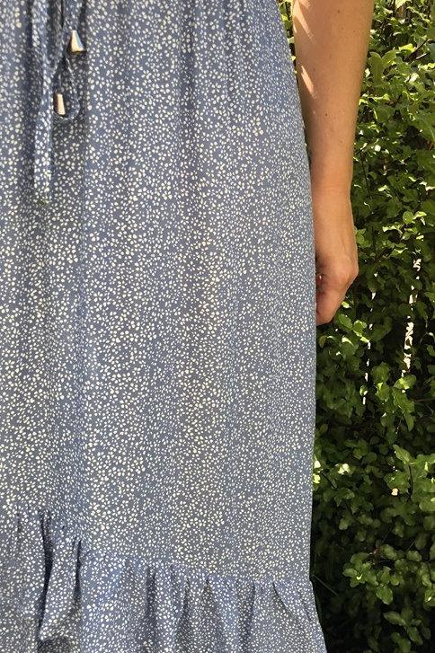 Rhina Maxi Skirt Blue and white