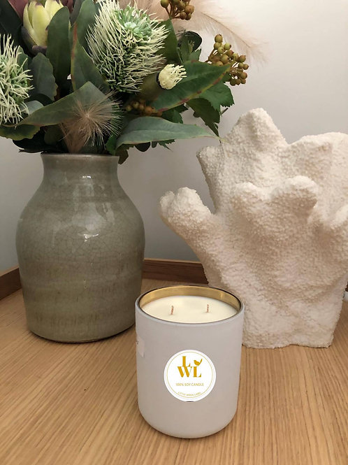 LUX White & Gold Candle