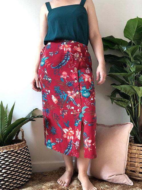 Springtime Button Skirt