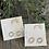 Thumbnail: Halo Silver Stud Earrings