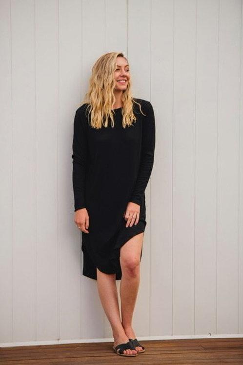 Kayla Long Sleeve Dress Navy