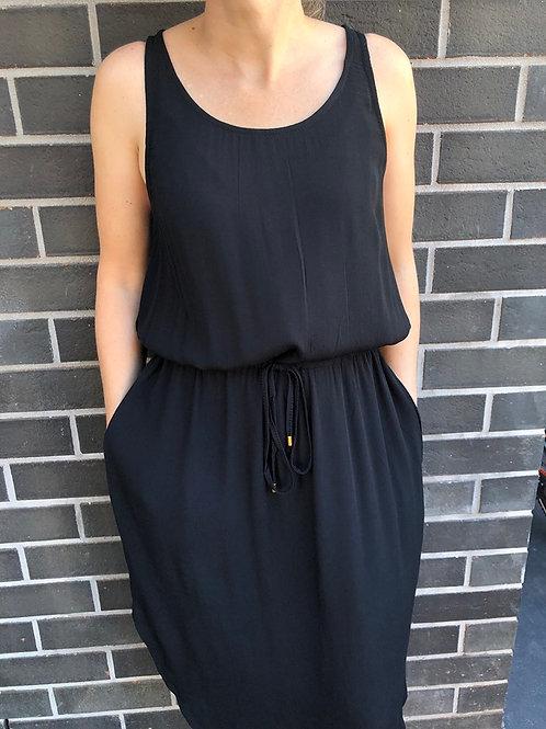Ava Midi  Dress Black
