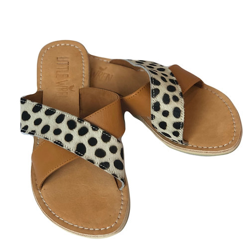 Tan & Leopard Slides