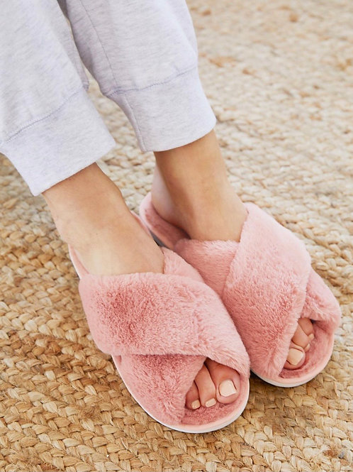 Cozy Slippers Blush