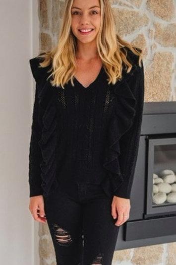 Candy Knit Black