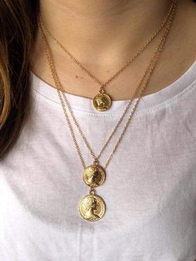 Trio Coin Necklace