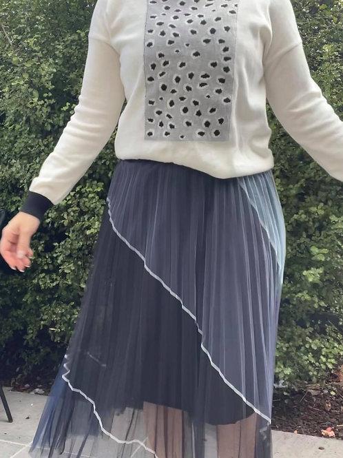 Evie Animal Knit White