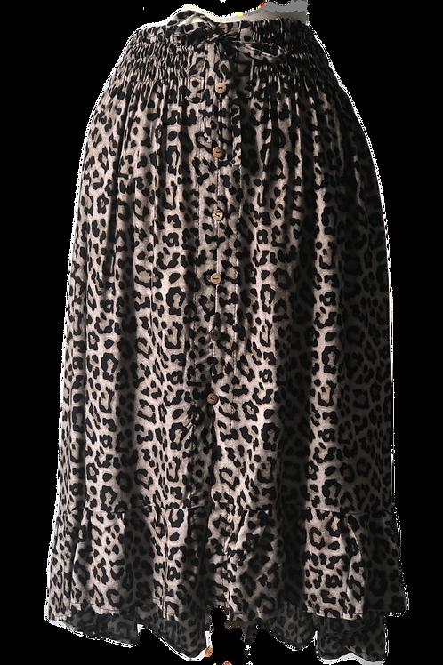 Jungle Midi Skirt Tan