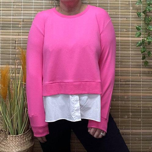 Pink Shirt Sweater