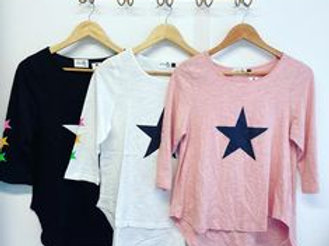 Star Long Sleeve Tee Pink
