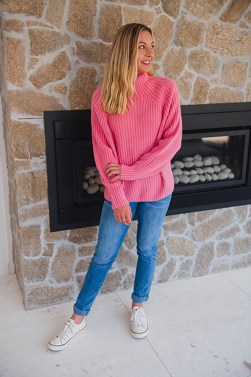 Ribbed Knit Pink