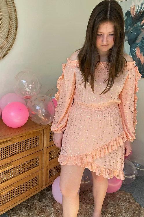 Galaxy Dress Peach