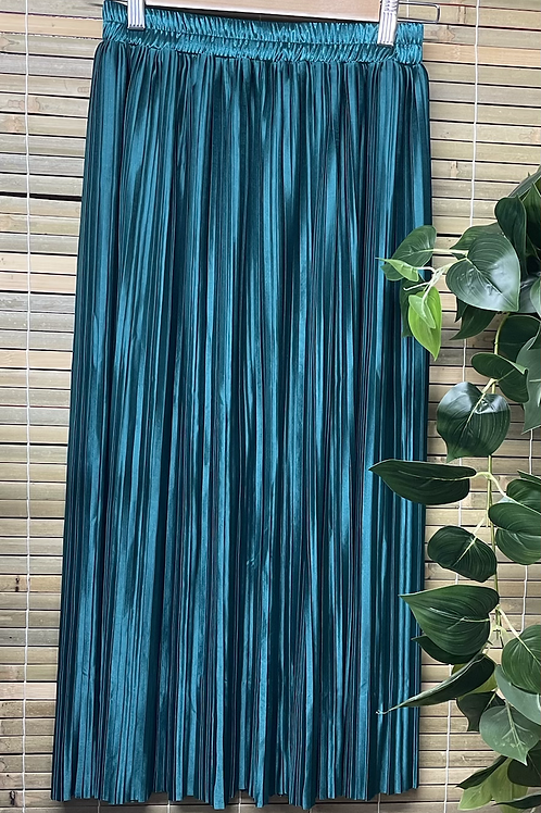 Pleat Skirt Emerald