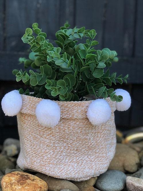 Fabric Pot Holder Pom Pom
