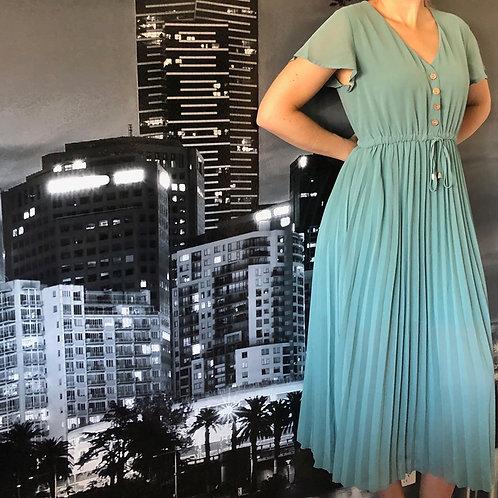 Pleat Dress Mint