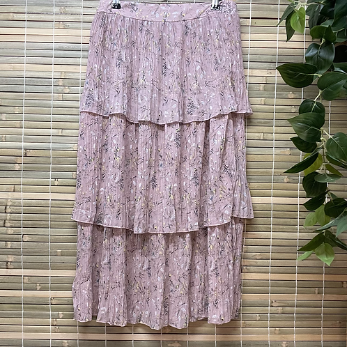 Floral Ruffle Maxi Pink