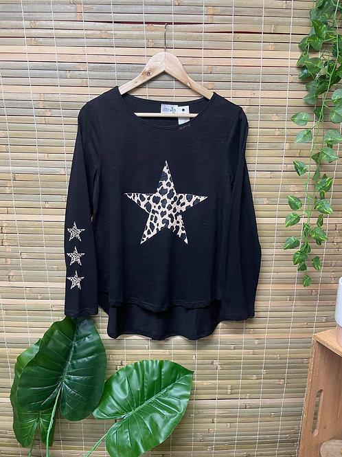 Animal Star Long Sleeve Black