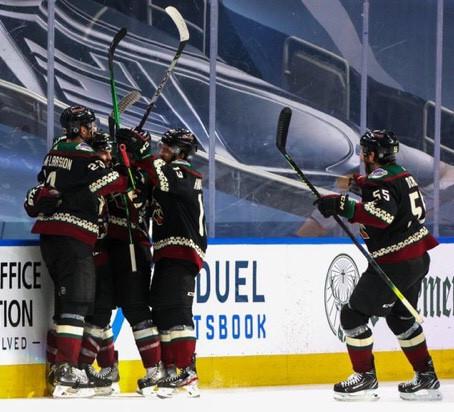 Coyotes win game 3 of series over Predators.