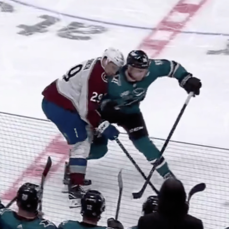 Nathan Mackinnon exits game early after taking illegal hit to the head