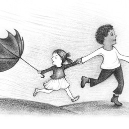 Illustration showing the challenges of growing up in a multicultural family.