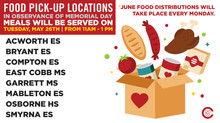 June Food Pick-up Locations
