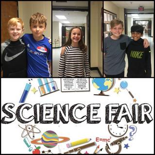 Congratulations, Science Fair Winners