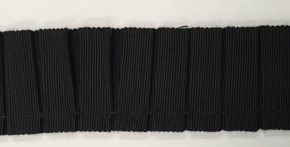 Black Grosgrain Pleated Trim