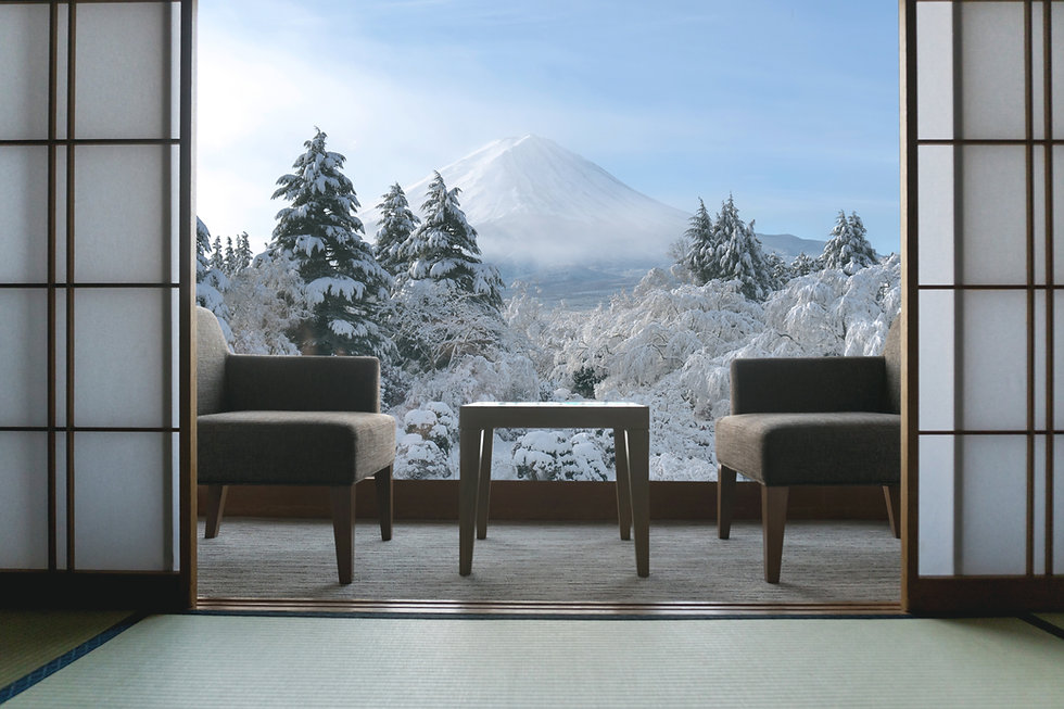 Beautiful Mt.Fuji view at window resort
