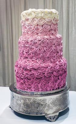 Fushia Ombre Cake