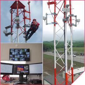 Radar instalado em refinaria