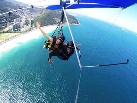 Retorno do voo de asa delta no Rio