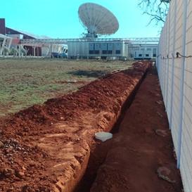 Sistema InvisiFence da SensoGuard instalado em uma base militar no Brasil