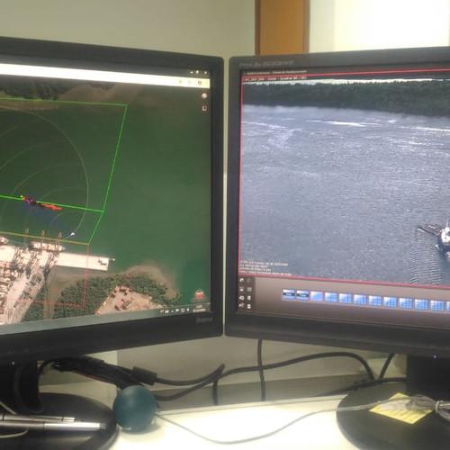 Radar detectando embarcação