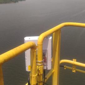 SR1000 instalado em porto