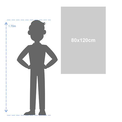 Banner em ou lona ou tecido - 80x120 cm