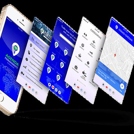 Redesign da interface do aplicativo A.P