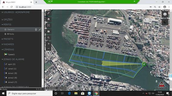 SR1000 na proteção de porto marítimo