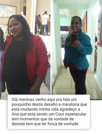 Regiane, 36 anos, menos 12 Kg