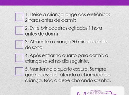 Checklist do sono da criança
