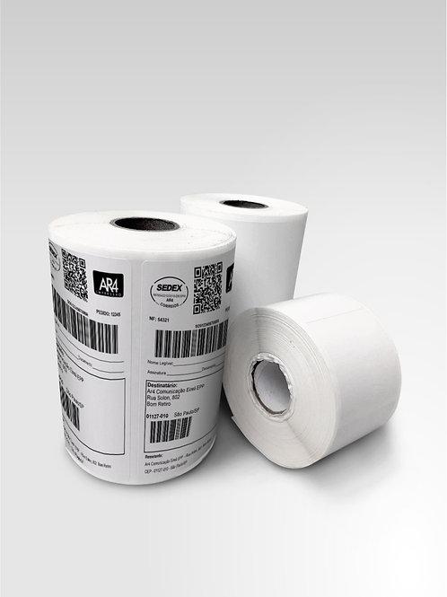 Rolo - 50x50 mm - Etiqueta Adesiva Branca Couchê