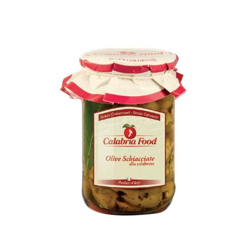 Olive Schiacciate alla calabrese