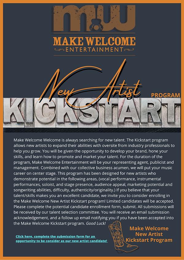 Make Welcome Kickstart Program USE Websi