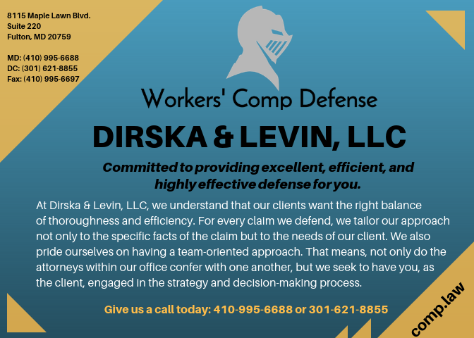 Ad for Dirska & Levin, LLC