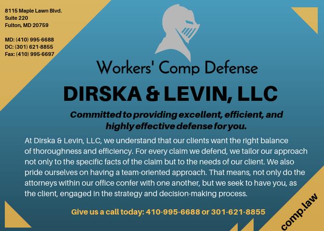 Ad for Dirska & Levin, LLC