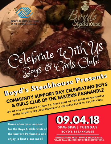 Boyd's Steakhouse promo Ad