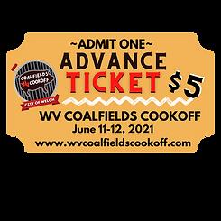 City of Welch Coalfields Cookoff $5 tick