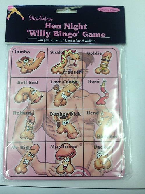 Hen Night Willy Bingo