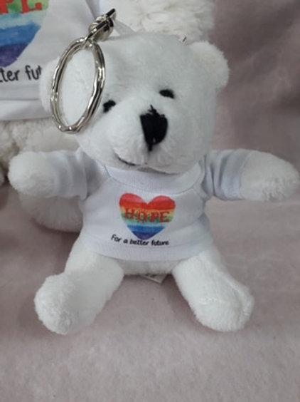 Personalised Hope Bear Keyring