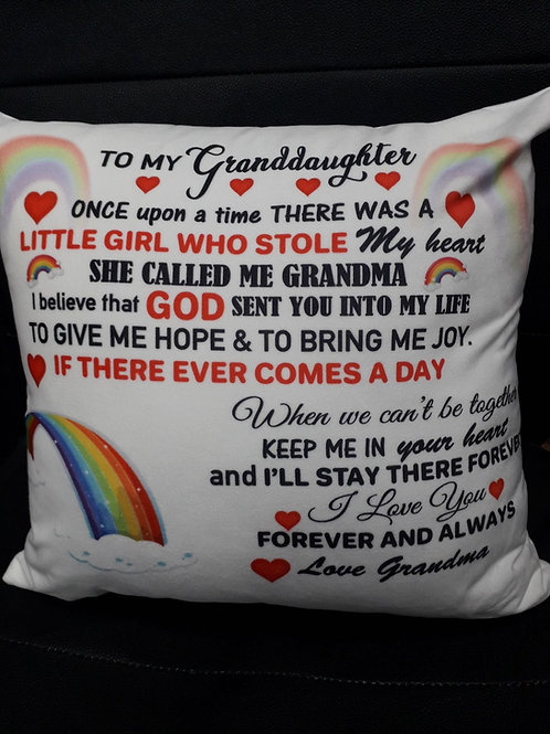 Personalised Granddaughter Cushion