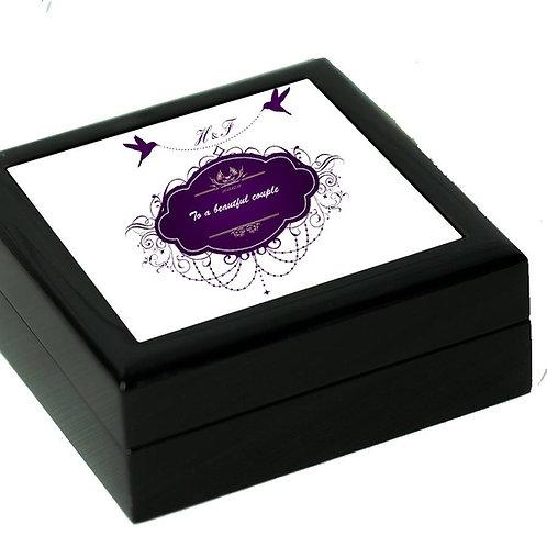 Luxury Black Jewellery/Keepsake Box